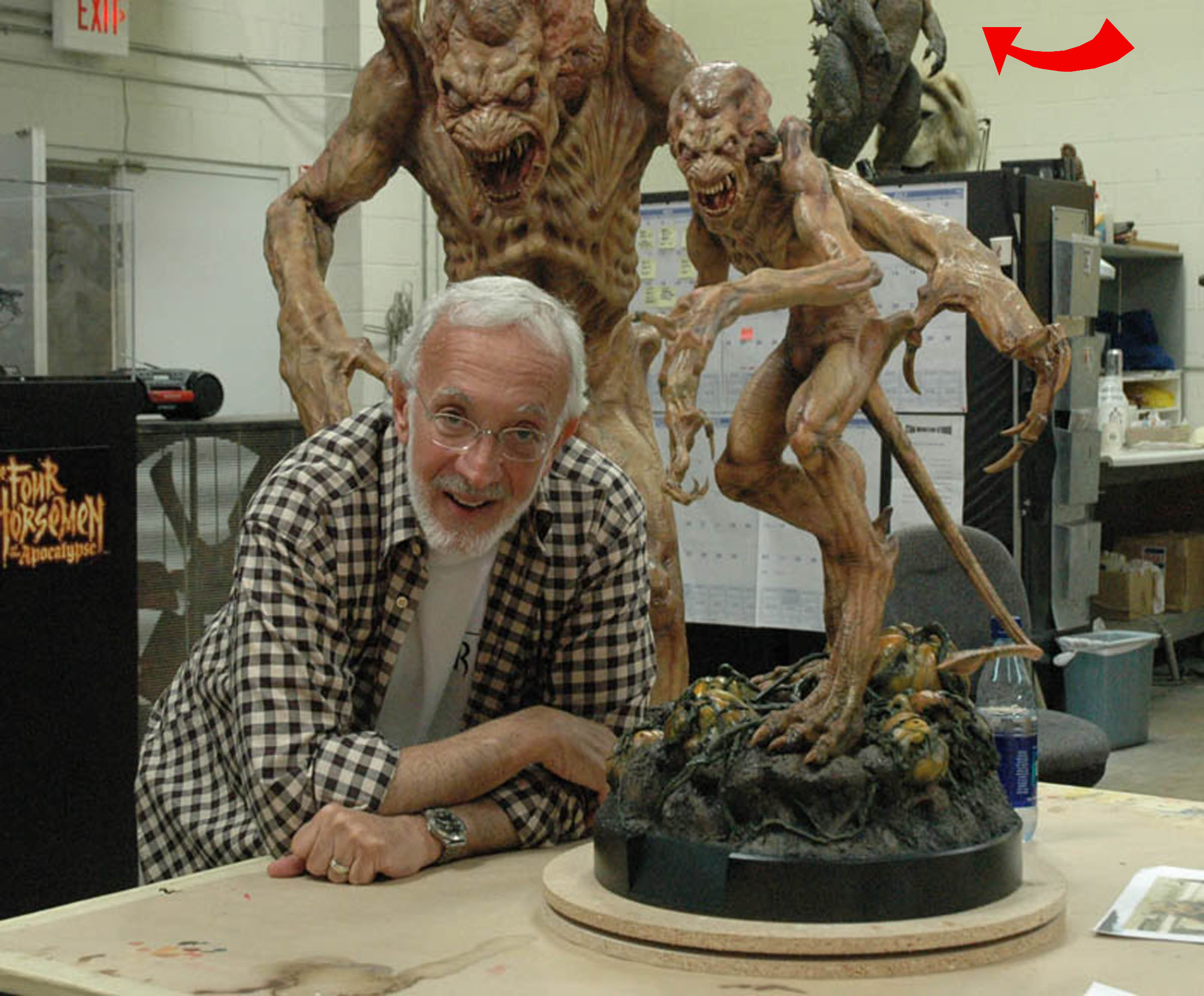 Stan Wiinston with Pumpkinhead and Godzilla